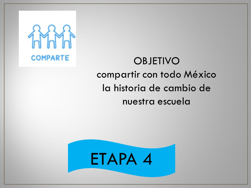 compartir con todo México la historia de cambio de nuestra escuela