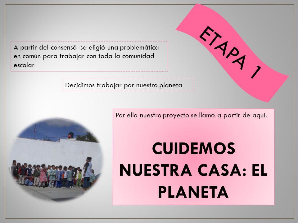 CUIDEMOS NUESTRA CASA: EL PLANETA