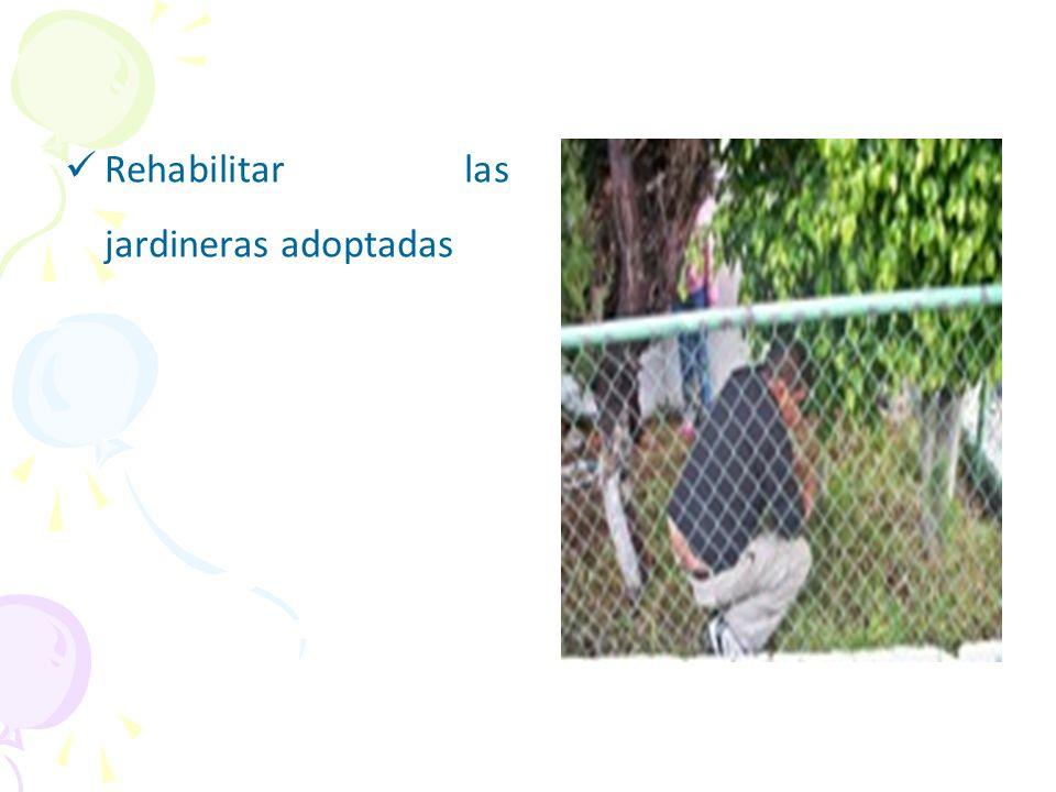 Rehabilitar las jardineras adoptadas