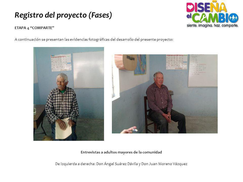 Registro del proyecto (Fases)
