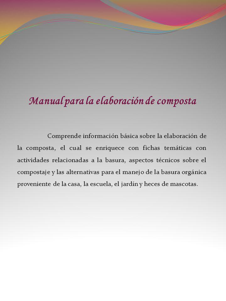 Manual para la elaboración de composta