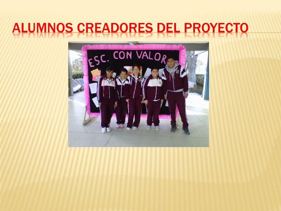 Alumnos creadores del proyecto