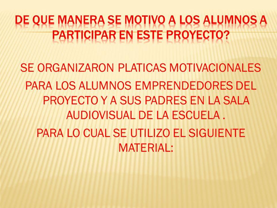 De que manera se motivo a los alumnos a participar en este proyecto