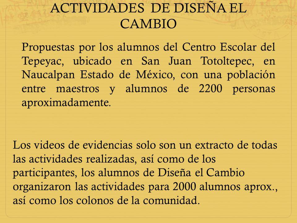 ACTIVIDADES DE DISEÑA EL CAMBIO