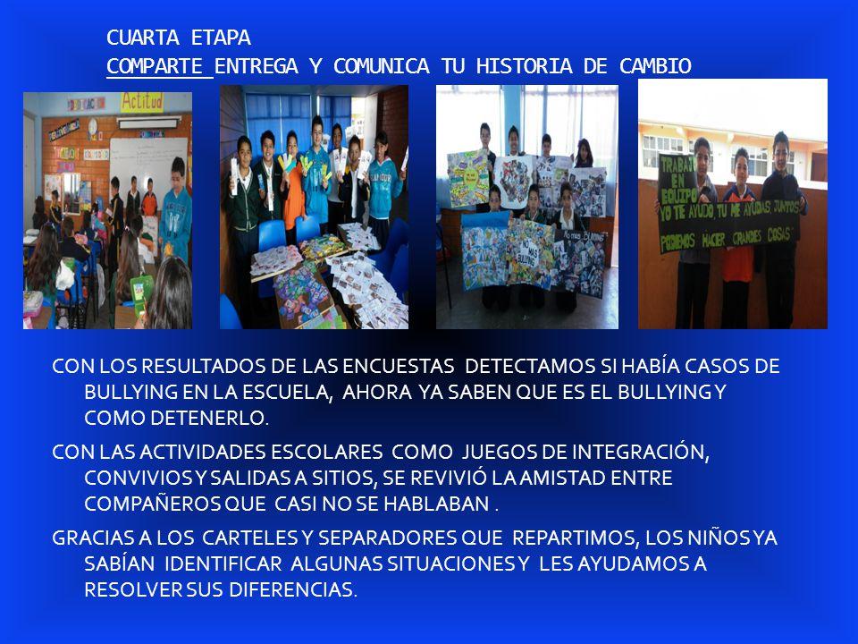 CUARTA ETAPA COMPARTE ENTREGA Y COMUNICA TU HISTORIA DE CAMBIO