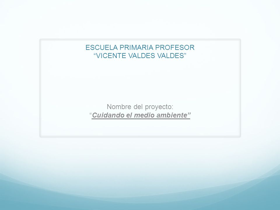 ESCUELA PRIMARIA PROFESOR VICENTE VALDES VALDES
