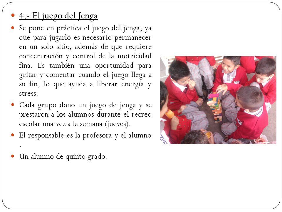 4.- El juego del Jenga
