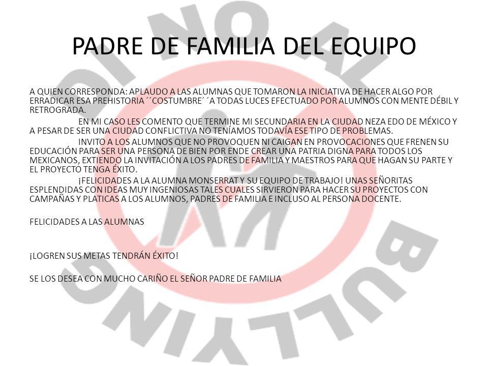PADRE DE FAMILIA DEL EQUIPO