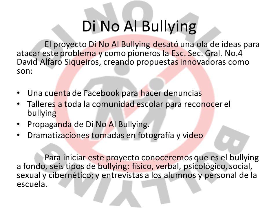 Di No Al Bullying Una cuenta de Facebook para hacer denuncias