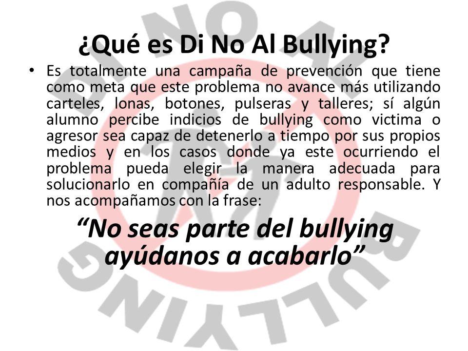 ¿Qué es Di No Al Bullying