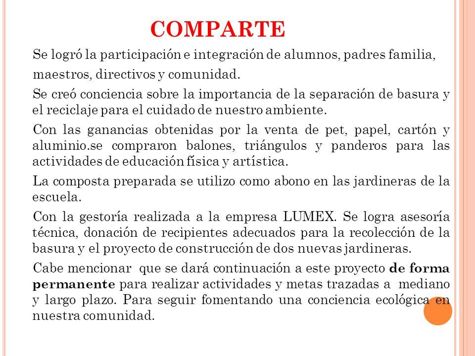 COMPARTE maestros, directivos y comunidad.