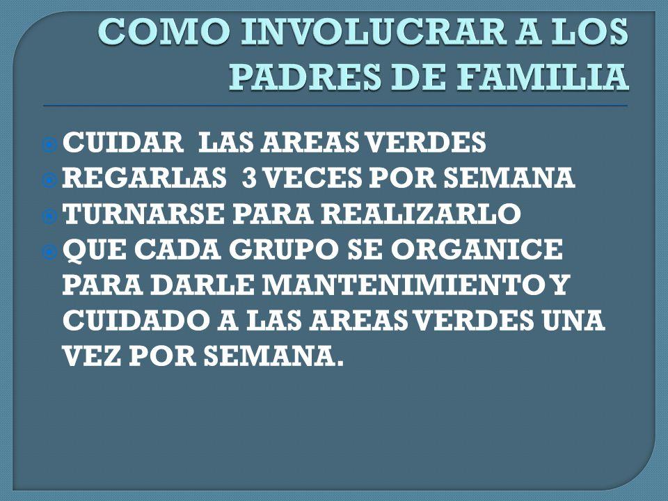 COMO INVOLUCRAR A LOS PADRES DE FAMILIA