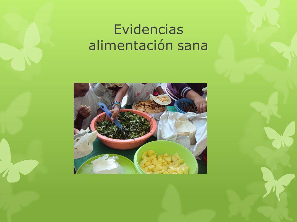 Evidencias alimentación sana