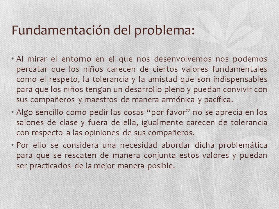 Fundamentación del problema: