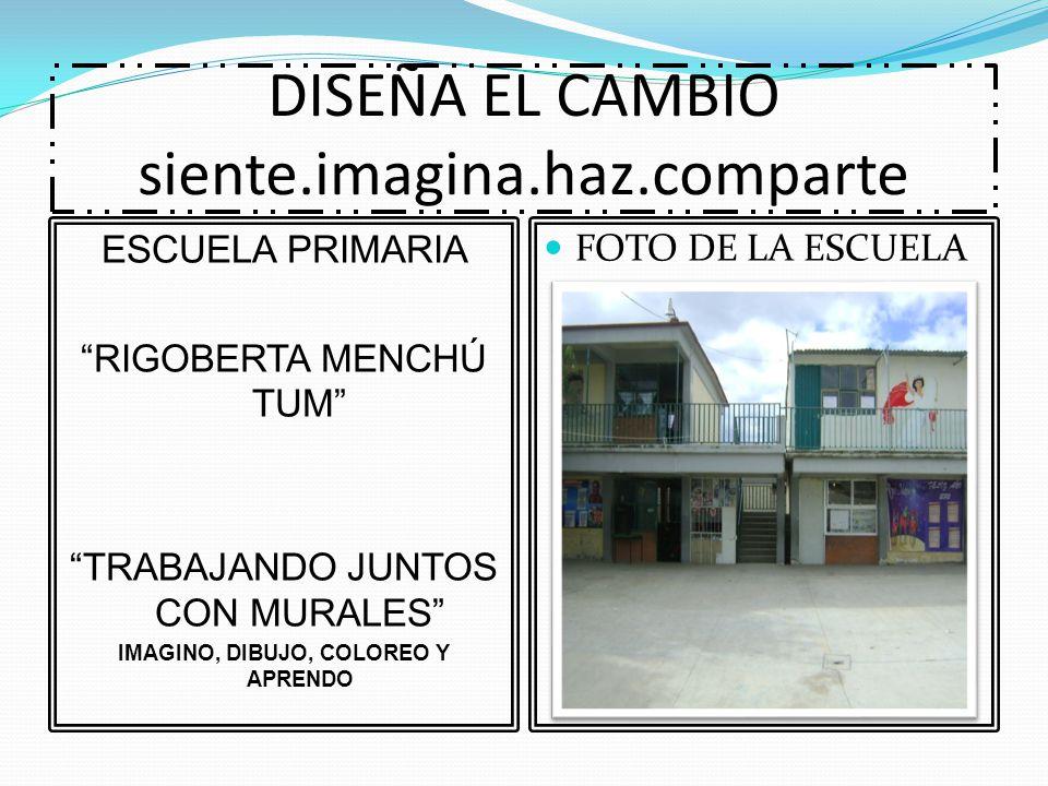 DISEÑA EL CAMBIO siente.imagina.haz.comparte