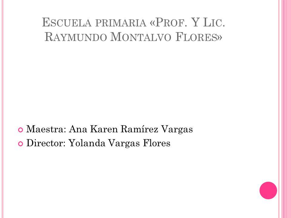 Escuela primaria «Prof. Y Lic. Raymundo Montalvo Flores»