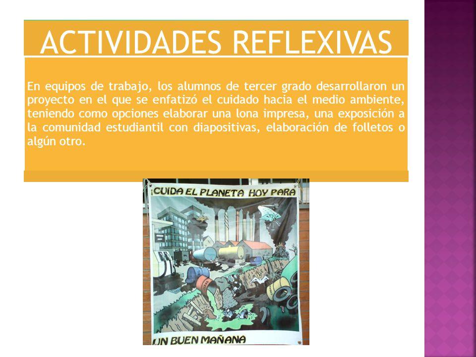ACTIVIDADES REFLEXIVAS