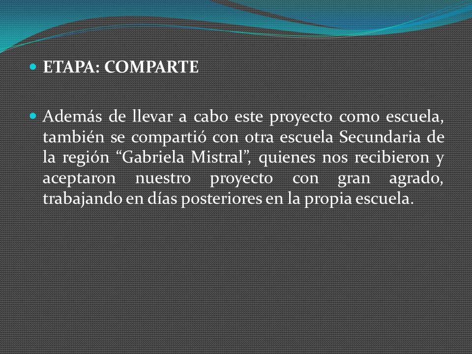 ETAPA: COMPARTE