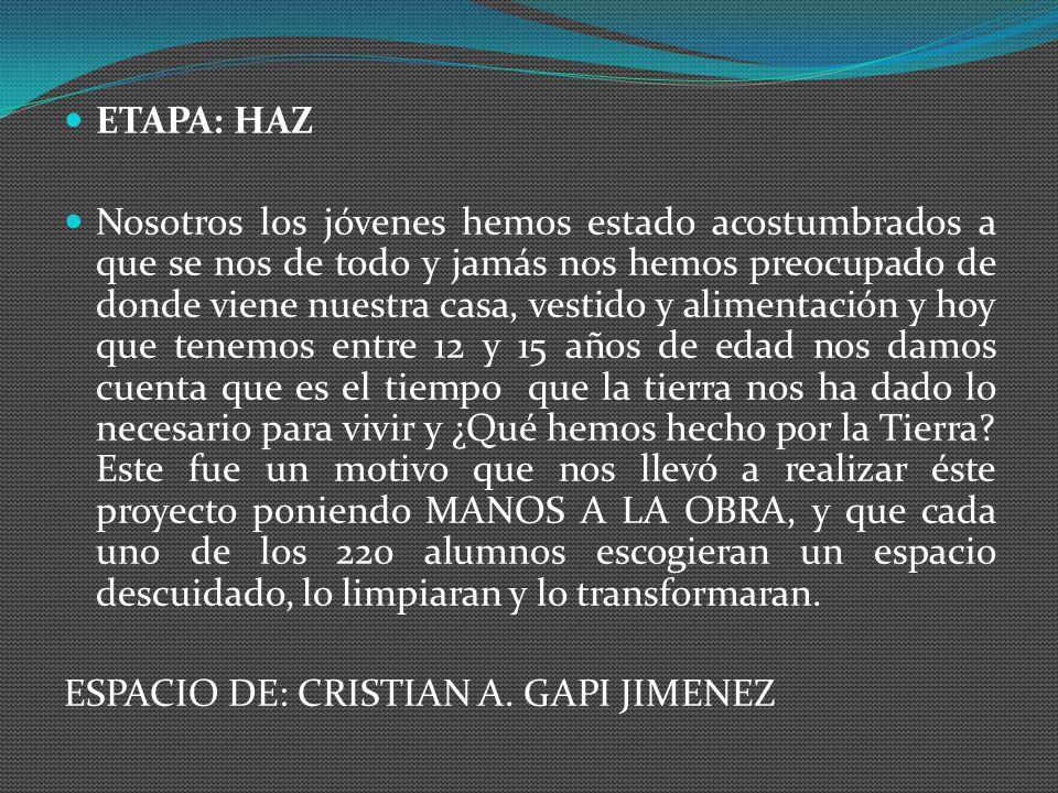 ETAPA: HAZ