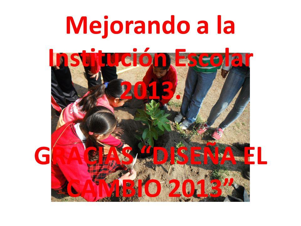 Mejorando a la Institución Escolar 2013