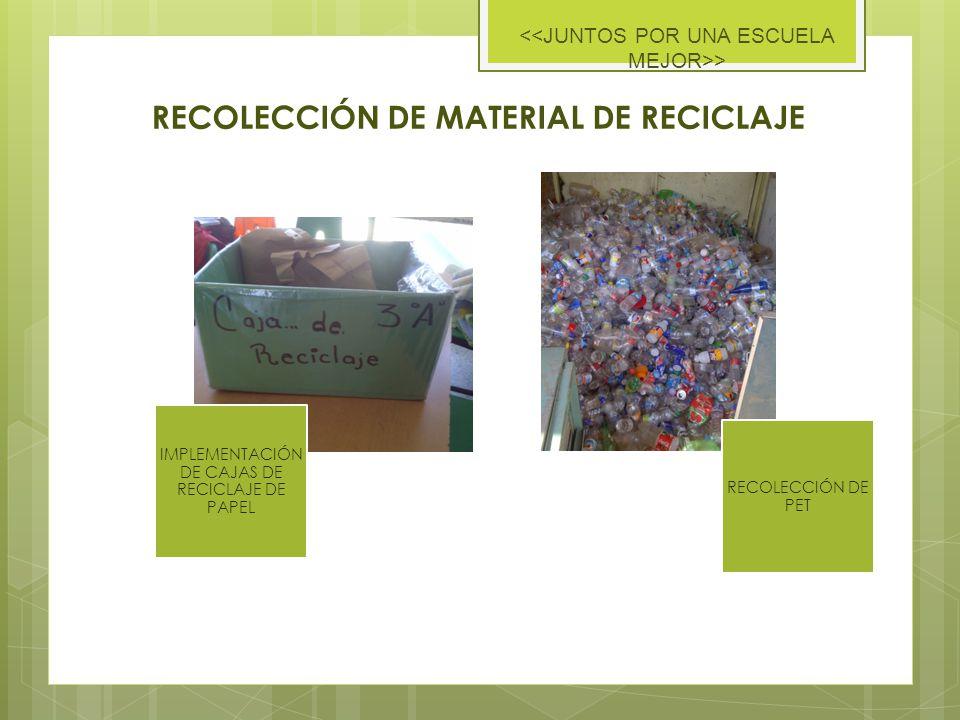RECOLECCIÓN DE MATERIAL DE RECICLAJE