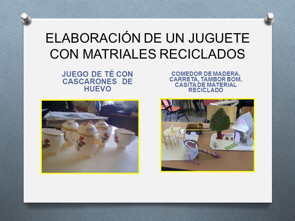 ELABORACIÓN DE UN JUGUETE CON MATRIALES RECICLADOS