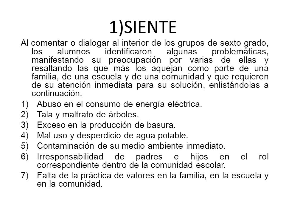 1)SIENTE