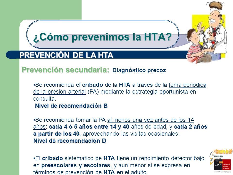 ¿Cómo prevenimos la HTA