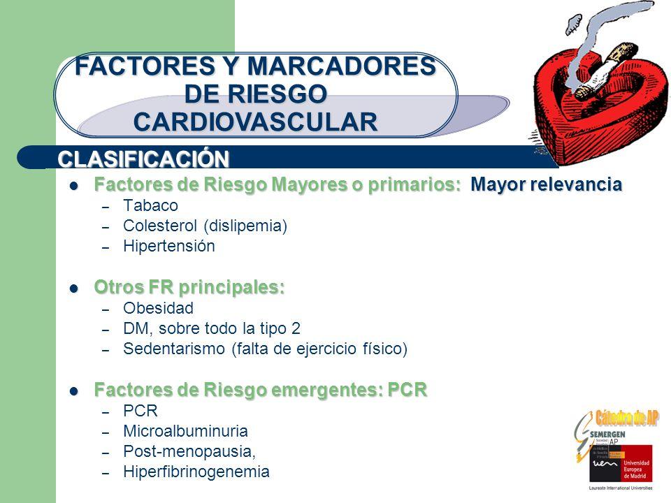 FACTORES Y MARCADORES DE RIESGO CARDIOVASCULAR