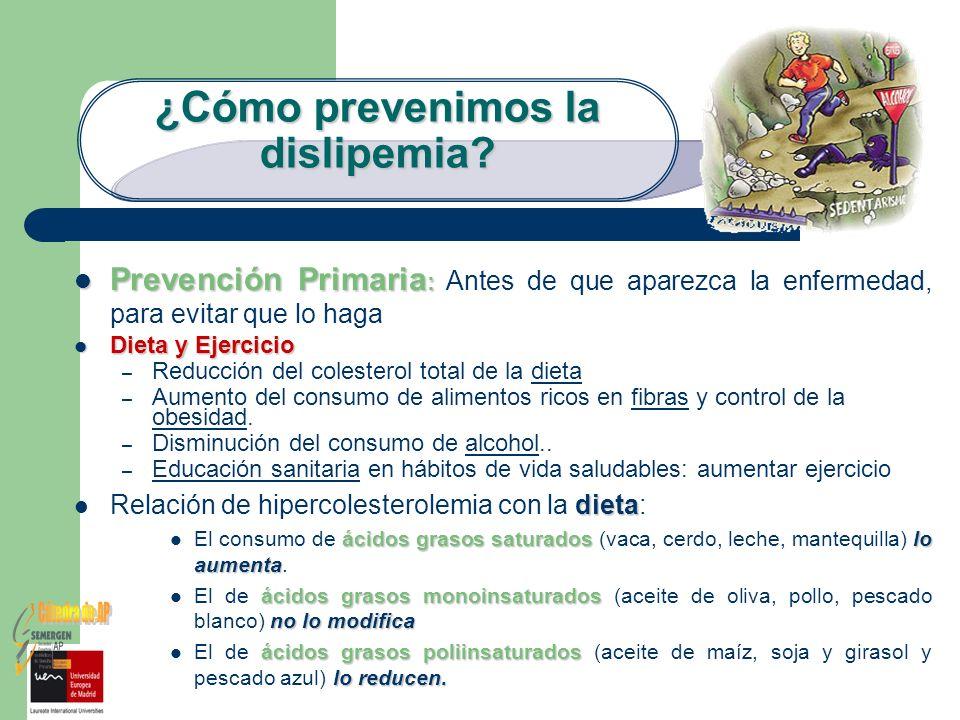¿Cómo prevenimos la dislipemia