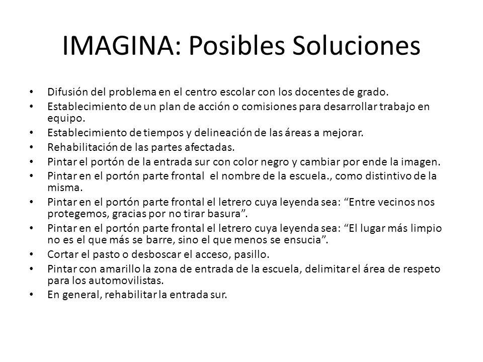 IMAGINA: Posibles Soluciones