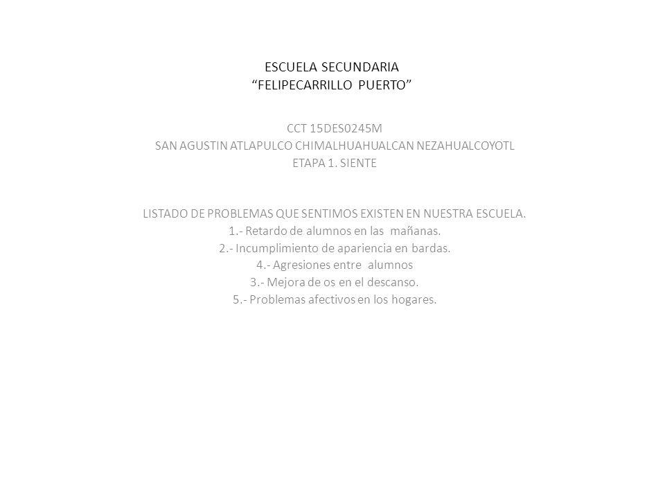 ESCUELA SECUNDARIA FELIPECARRILLO PUERTO