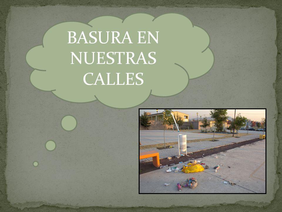BASURA EN NUESTRAS CALLES