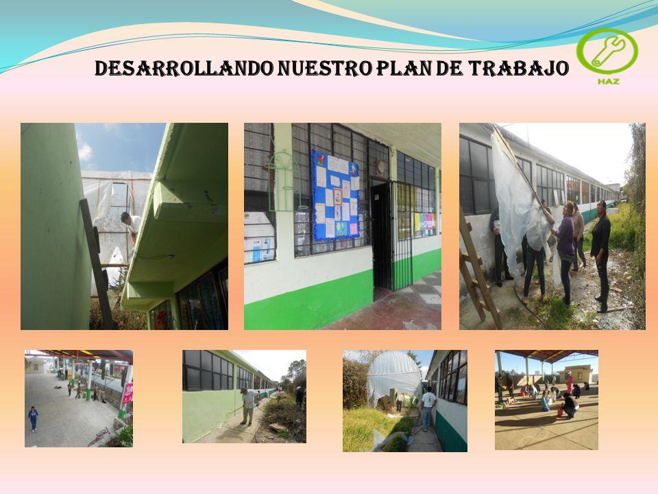DESARROLLANDO NUESTRO PLAN DE TRABAJO