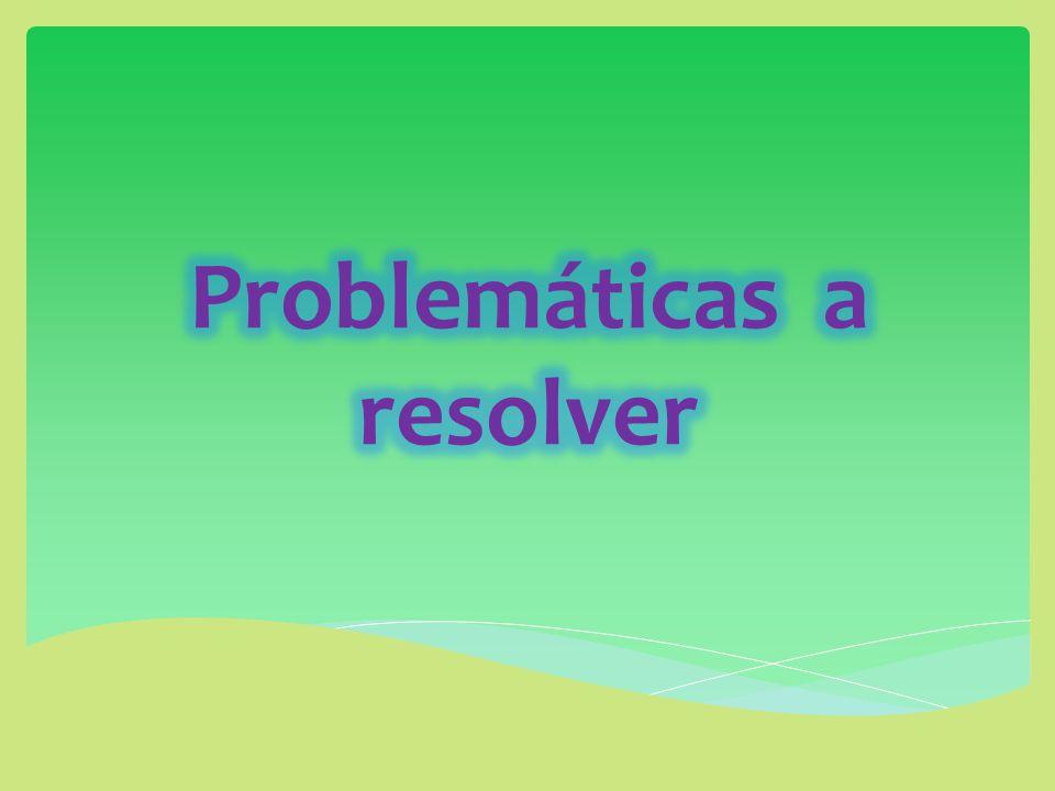 Problemáticas a resolver