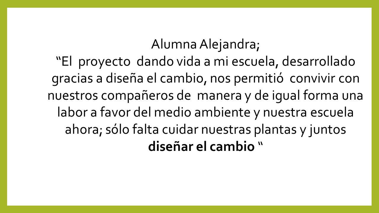 Alumna Alejandra;