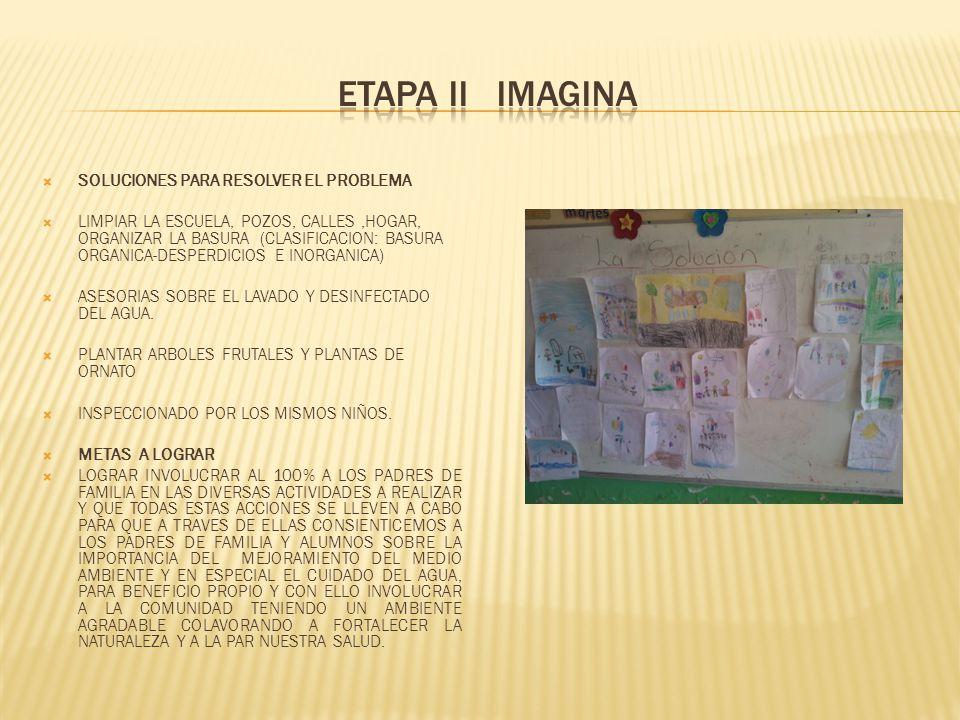 ETAPA II IMAGINA SOLUCIONES PARA RESOLVER EL PROBLEMA