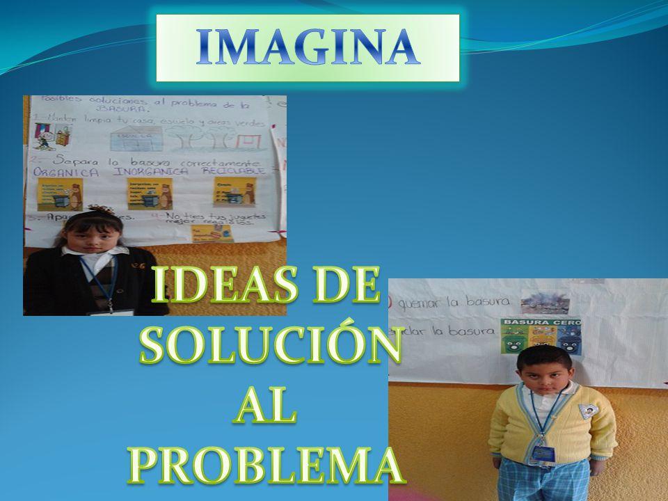 IMAGINA IDEAS DE SOLUCIÓN AL PROBLEMA