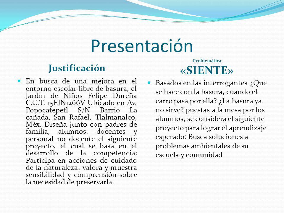 Presentación «SIENTE» Justificación