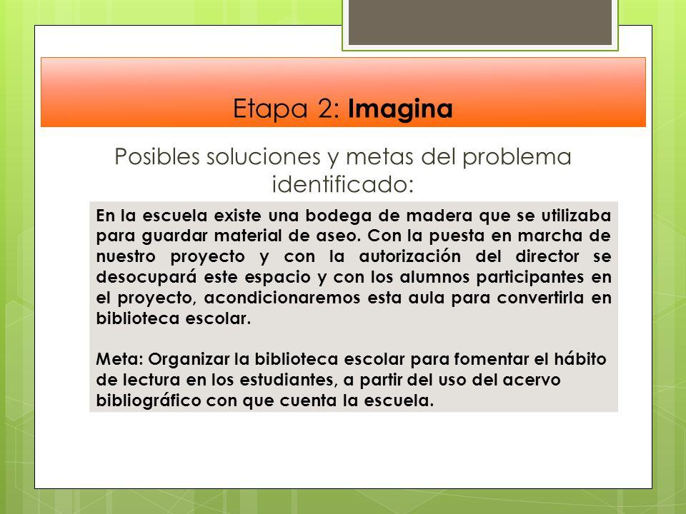 Posibles soluciones y metas del problema identificado: