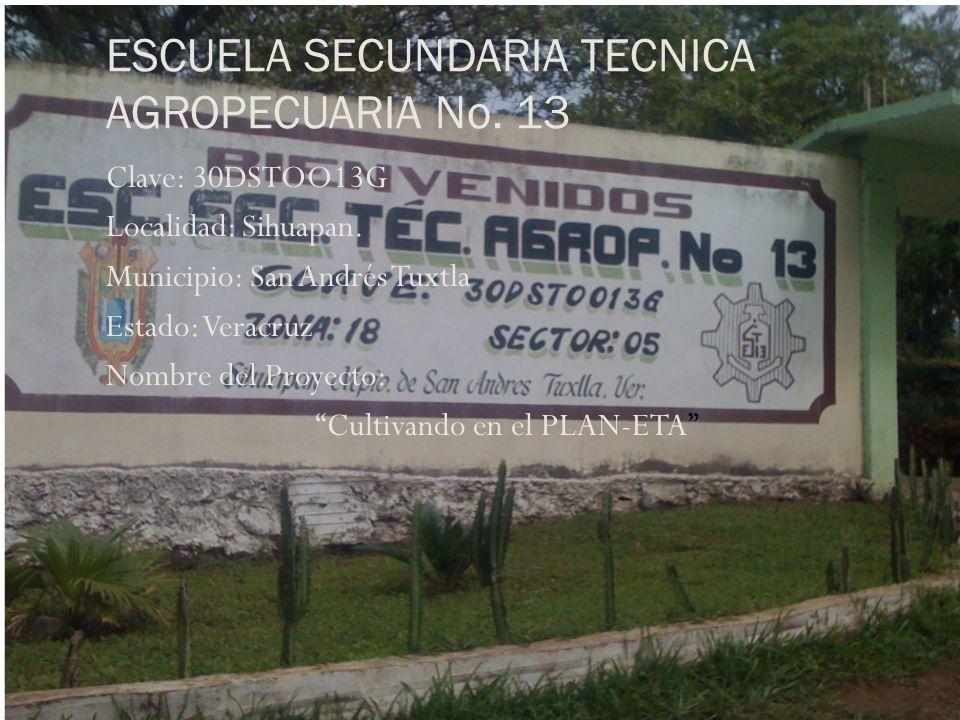 ESCUELA SECUNDARIA TECNICA AGROPECUARIA No. 13