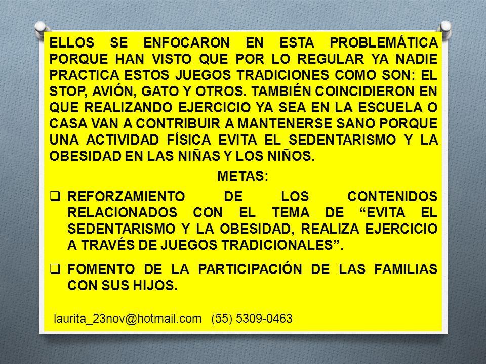 FOMENTO DE LA PARTICIPACIÓN DE LAS FAMILIAS CON SUS HIJOS.