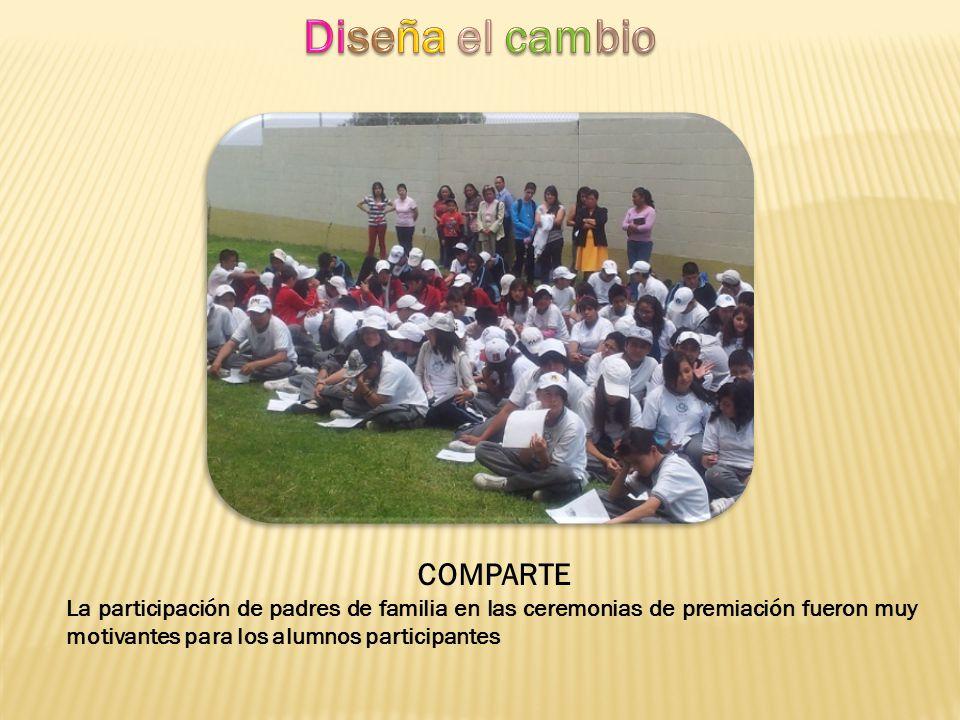 Diseña el cambio COMPARTE