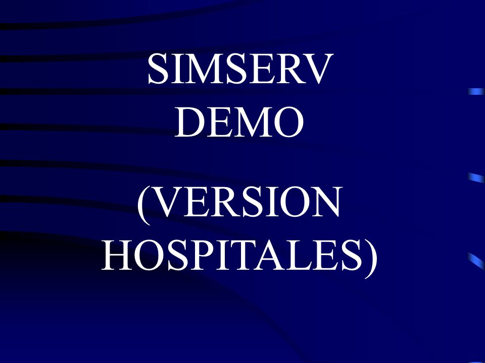 SIMSERV DEMO (VERSION HOSPITALES)