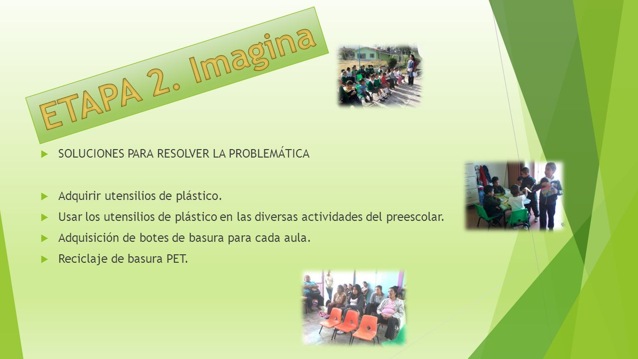 ETAPA 2. Imagina SOLUCIONES PARA RESOLVER LA PROBLEMÁTICA
