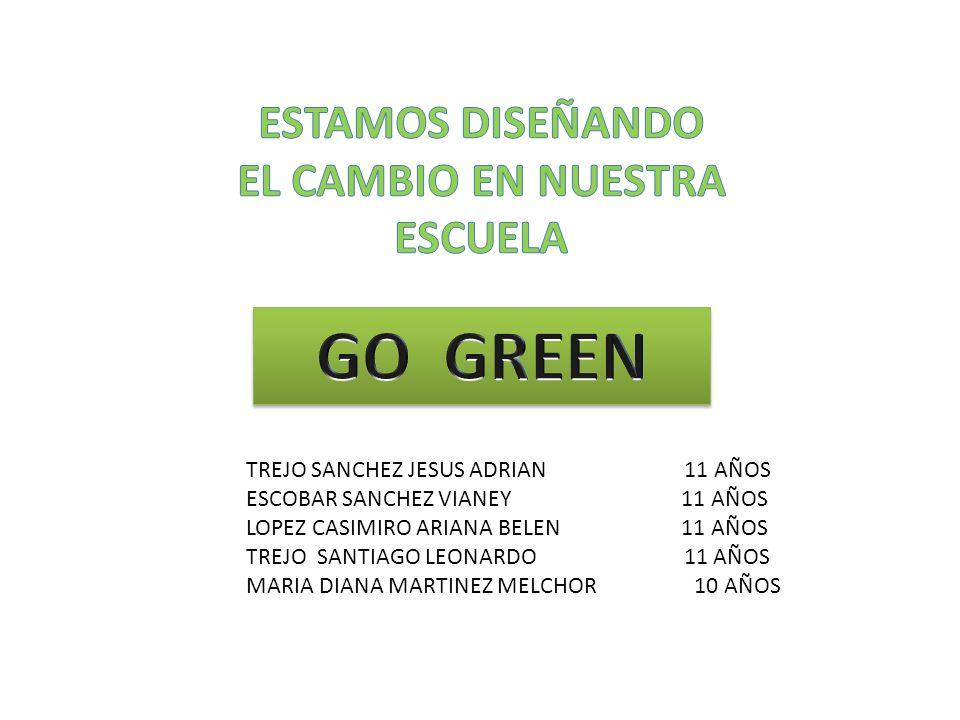 GO GREEN ESTAMOS DISEÑANDO EL CAMBIO EN NUESTRA ESCUELA