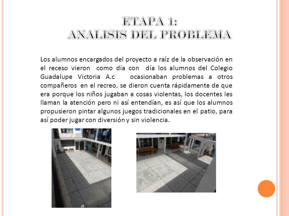ETAPA 1: ANALISIS DEL PROBLEMA