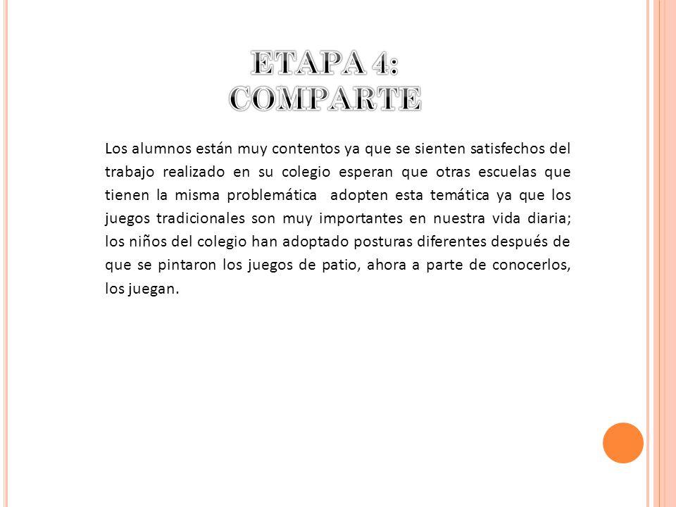 ETAPA 4: COMPARTE.