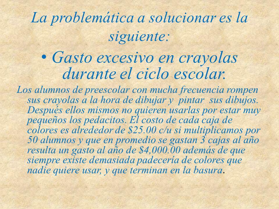 La problemática a solucionar es la siguiente: