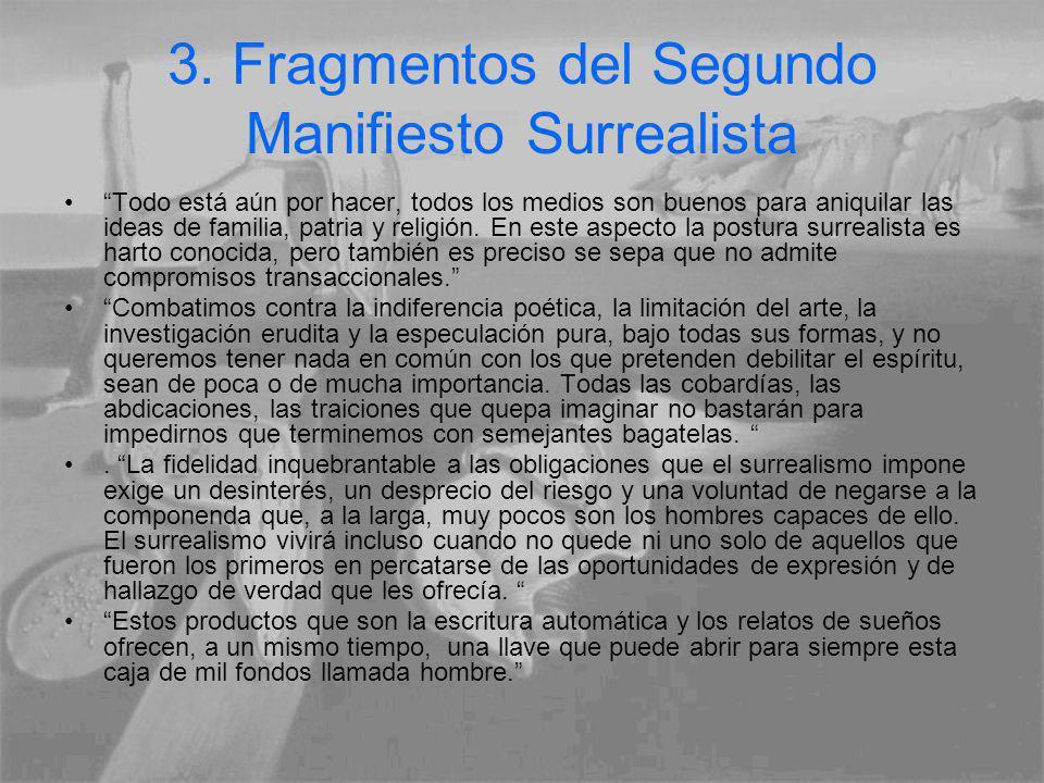 3. Fragmentos del Segundo Manifiesto Surrealista